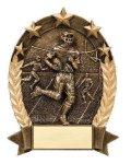 5 Star Oval -Football Male 5 Star Oval Resin Trophy Awards