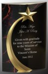 Red Marble Rounded Shooting Star Acrylic Achievement Awards