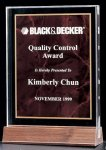 Acrylic Award with a Ruby Marble Center Achievement Awards