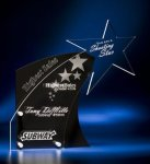 Clear Star with Black Accent Acrylic Award Achievement Awards