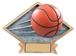 Diamond Plate Resin -Basketball Basketball Trophy Awards