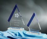 Marmont Blue Optical Crystal Awards