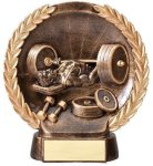 Resin Plate -Bench Press Body Building Trophy Awards