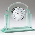 Glass Desk Clock Boss Gift Awards