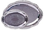 Scalloped Edge Chrome Plated Tray Boss Gift Awards