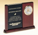 Versatile Clock Rosewood Piano Finish Desk Clock Boss Gift Awards