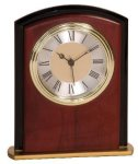 Mahogany Finish Square Arch Clock Award Boss Gift Awards