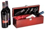 Single Wine Box With Tools -Rosewood Piano Finish Boss Gift Awards