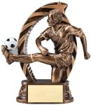 Bronze and Gold Award -Soccer Male  Bronze and Gold Star Resin Trophy Awards