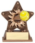 Star Burst Resin -Tennis Bursting Star Resin Trophy Awards