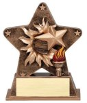 Star Burst Resin -Victory Bursting Star Resin Trophy Awards