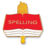 Spelling Lapel Pin Chenille Lapel Pins