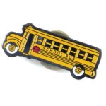 School Bus Lapel Pin Chenille Lapel Pins
