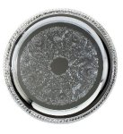 Chrome Tray  Round Design Circle Awards
