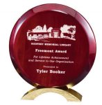 Rosewood Round Award Circle Awards