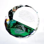 Duet Round Paperweight- Color Circle Awards
