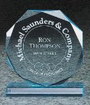 Octagon Bevel Acrylic Award Colored Acrylic Awards