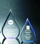 Beveled Teardrop Acrylic Award Colored Acrylic Awards