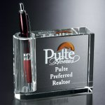 Pen Holder/Bud Vase Crystal Glass Awards