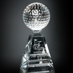 Golf Pyramid Crystal Glass Awards