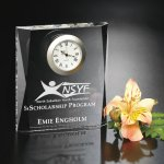 Moments Beveled Clock Crystal Glass Awards