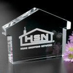 House Paperweight Crystal Glass Awards