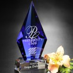 Azurite Award Crystal Glass Awards
