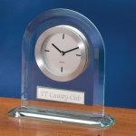Rounded Glass Desk Clocks