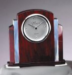 Rosewood  and Aluminum Clock Desk Clocks