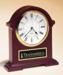 Napoleon Mantle Clock with Hand-rubbed Mahogany Finish Desk Clocks