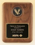 American Walnut Plaque with Eagle Medallion Eagle Awards