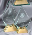 Crystal Spear On Base Large Employee Awards