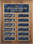 Genuine Walnut Perpetual Plaques Employee Awards