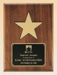 American Walnut Plaque with 5 Gold Star Employee Awards