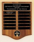 American Walnut Perpetual Plaque with Medallion Employee Awards
