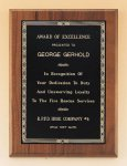 Walnut Plaque with Brass Engraving Plate Employee Awards