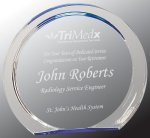 Blue Round Circle Halo Acrylic Award Employee Awards