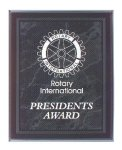 Black Marble Border Clear Acrylic Award Plaque Employee Awards