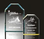 Beveled Clipped Corner Plaque Employee Awards