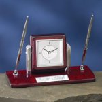 Dual Clock Pen Holder Executive Gift Awards