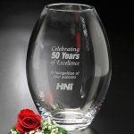 Clear Barrel Vase Executive Gift Awards