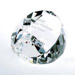 Duet Round Paperweight- Clear Executive Gift Awards