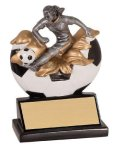 Xploding Resin -Soccer Female  Explosion Resin Trophy Awards