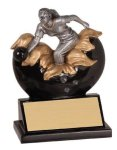 Xploding Resin -Bowling Female  Explosion Resin Trophy Awards