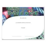 Science Fill in the Blank Certificates