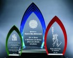 Multi Step Flame Acrylic Award Fire and Safety Awards