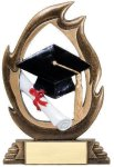 Flame Series -Graduation Flame Resin Trophy Awards