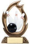 Flame Series -Bowling Flame Resin Trophy Awards