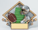 Resin Diamond Plate -Football Football Trophy Awards
