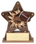 Star Burst Resin -Football Football Trophy Awards
